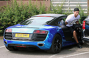 07.JULY.2014. ESSEX<br /> <br /> CODE - MAG<br /> <br /> JAMES LOCK AND DAN OSBOURNE SEEN IN BRENTWOOD ESSEX FOR SOME LUNCH. JAMES HAD TO BORROW SOME MONEY FROM A STRANGER AS HE DIDNT HAVE ANY SPARE CHANGE FOR THE PARKING MACHINE FOR DANS SPORTS CAR<br /> <br /> <br /> BYLINE: EDBIMAGEARCHIVE.CO.UK<br /> <br /> *THIS IMAGE IS STRICTLY FOR UK NEWSPAPERS AND MAGAZINES ONLY*<br /> *FOR WORLD WIDE SALES AND WEB USE PLEASE CONTACT EDBIMAGEARCHIVE - 0208 954 5968*