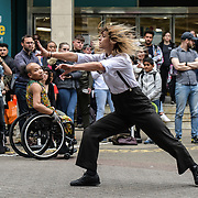 Stopgap Dance Company - Frock performs at GDIF2019, on 21 June 2019, London, UK