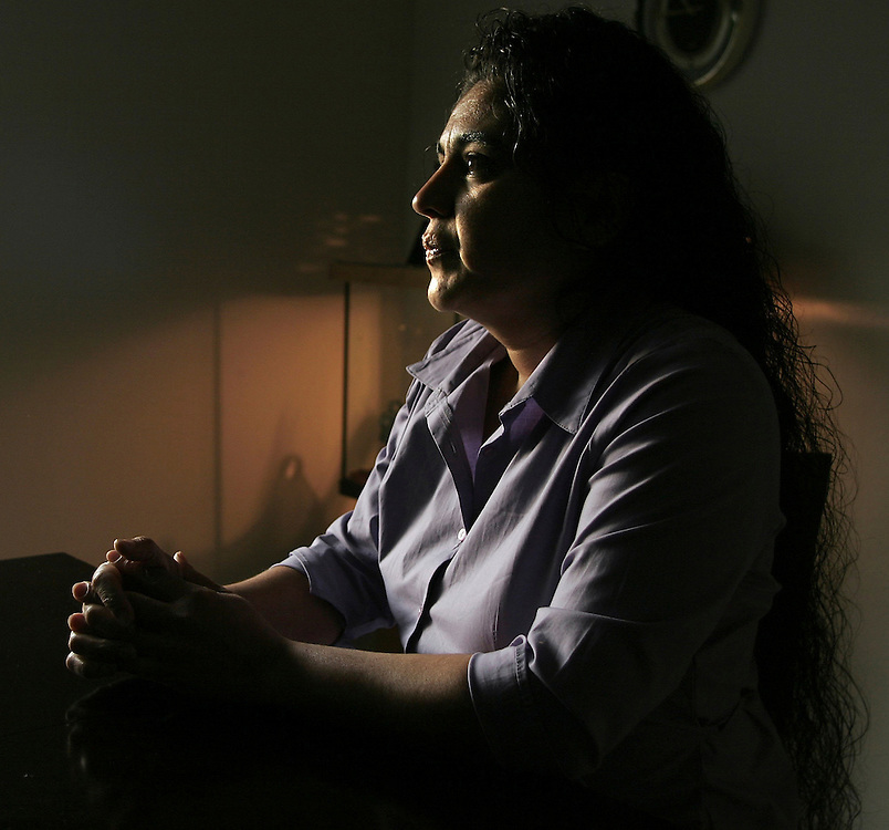 Rosalinda Alvarado is photographed in her Salem home. Her husband, Marco Alvarado, was placed in a federal prison in Tacoma since October when returning from a visit to Mexico. A 1990 drug conviction could have him deported.