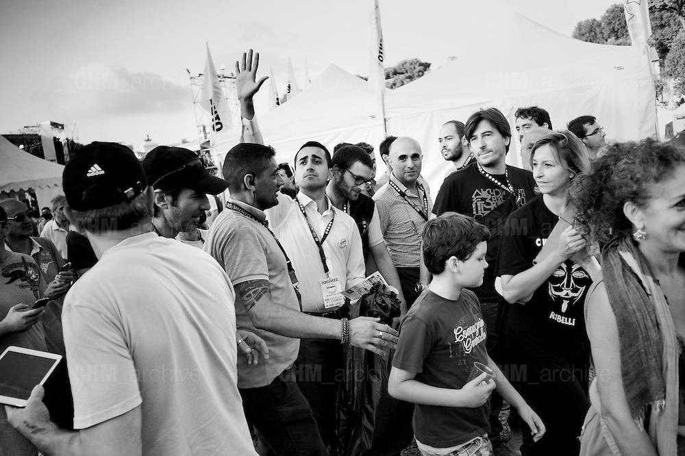 Luigi Di Maio alla  festa del Movimento 5 Stelle al Circo Massimo. <br /> Roma 12 Ottobre 2014 Daniele Stefanini /  OneShot