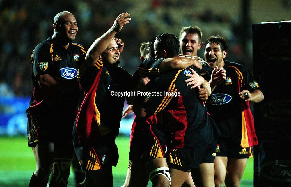 16/03/01, Super 12 Rugby, Blues  v Chiefs, Rotorua.<br />Photo: Andrew Cornaga/Photosport.co.nz
