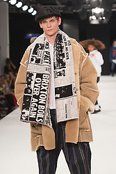"""© Licensed to London News Pictures. 02/06/2015. London, UK. Collection by Poppy Russell, University of the Arts, Bournemouth. Runway show """"Best of Graduate Fashion Week 2015"""". Graduate Fashion Week takes place from 30 May to 2 June 2015 at the Old Truman Brewery, Brick Lane. Photo credit : Bettina Strenske/LNP"""