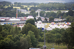 The posh campsite area as seen from the ferris wheel.  Friday, 10th July 2015, First day at T in the Park 2015, at its new home at Strathallan Castle.
