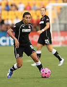 ATLANTA, GA - AUGUST 06:  Forward Marta #10 of the Western NY Flash dribbles with the ball during the Women's Professional Soccer game between the Atlanta Beat and the Western New York Flash at Kennesaw State University Soccer Stadium on August 6, 2011 in Atlanta, Georgia.  (Photo by Mike Zarrilli/Getty Images)