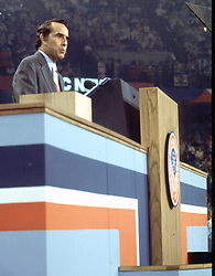United States Senator Bob Dole (Republican of Kansas), delivers his acceptance speech as the 1976 Republican nominee for Vice President of the United States, speaks at the Republican National Convention at the Kemper Arena in Kansas City, Missouri on August 19, 1976.<br /> Credit: Arnie Sachs / CNP