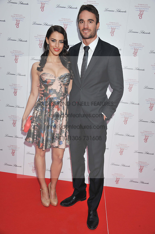 THOM EVANS and JESSICA LOWNDES at Gabrielle's Gala an annual fundraising evening in aid of Gabrielle's Angel Foundation for Cancer Research held at Battersea Power Station, London on 2nd May 2013.