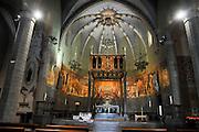 Interior of the Chapel of Les Alegries, Lloret de Mar, Costa Brava, Spain