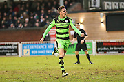Forest Green Rovers Elliott Frear(11) and celebrates, 0-1 during the Vanarama National League match between Bromley FC and Forest Green Rovers at Hayes Lane, Bromley, United Kingdom on 7 January 2017. Photo by Shane Healey.