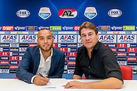 ALKMAAR - AFAS Stadion, 31-08-2016, AZ contracteert Bel Hassani, Max Huiberts.