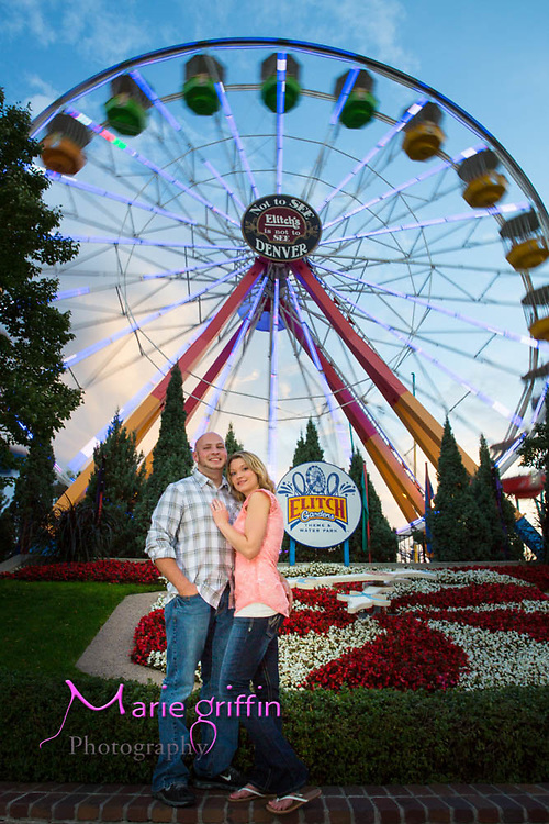 Autumn Snyder and Dustin engagement photos at Wynkoop bridge and Elitch Gardeni in Denver, CO on Aug. 16, 2015.<br /> Photography by: Marie Griffin Dennis/Marie Griffin Photography<br /> mariegriffinphotography.com<br /> mariefgriffin@gmail.com