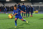 AFC Wimbledon Mascot warming up next to AFC Wimbledon players prior to kick off during the EFL Sky Bet League 1 match between AFC Wimbledon and Ipswich Town at the Cherry Red Records Stadium, Kingston, England on 11 February 2020.