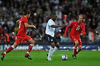 Photo: Tony Oudot/Richard Lane Photography.  England v Czech Republic. International match. 20/08/2008. <br /> Jermaine Defoe of England takes on the Czech defence