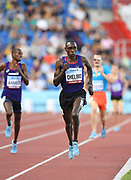 Paul Chelimo (USA) wins the 3,000m in 7:57.13 during the IAAF Continental Cup 2018 at Mestky Stadion in Ostrava, Czech Republic, Sunday, Sept. 9, 2018. (Jiro Mochizuki/Image of Sport)