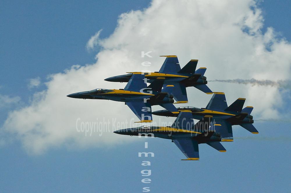 Blue Angels diamond formation Dayton Airshow 2010