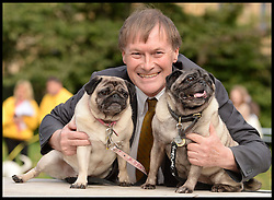 David Amess MP and his dogs Lily and Bo take  part in the Westminster Dog of the Year 2013 with his dog Noodle. London, United Kingdom. Thursday, 10th October 2013. Picture by Andrew Parsons / i-Images