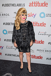 EDITORIAL USE ONLY<br /> Jodie Harsh attends the 2016 Attitude Award the 2016 Attitude Awards in association with Virgin Holidays, at 8 Northumberland Avenue, London.