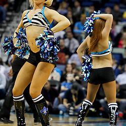 February 6, 2012; New Orleans, LA, USA; New Orleans Hornets honeybees perform during the second half of a game against the Sacramento Kings at the New Orleans Arena. The Kings defeated the Hornets 100-92.  Mandatory Credit: Derick E. Hingle-US PRESSWIRE