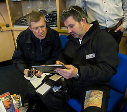 Pictured: Willie Rennie and pilot Norman Sutherland carefully go over the flight plan<br /> <br /> Scottish Liberal Democrat leader Willie Rennie took to the skies as he joined the UK Civil Air Patrol for a training flight in Perth. Mr Rennie took the opportunity to set out Liberal Democrat plans to restore local accountability and decision making within Police Scotland. The UK Civil Air Patrol provides airborne assistance for agencies, groups or individuals who would otherwise not have access to such a facility.  Until 2013 the service regularly assisted Police officers with air searches in missing person cases. This ended following the creation of Police Scotland.  <br /> Ger Harley | EEm 12 April 2016
