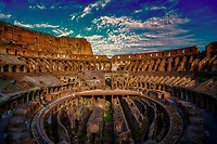 """Western entrance evening view of the Roman Colosseum""…<br />