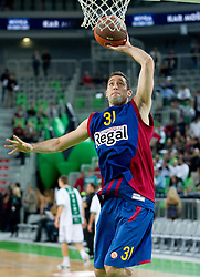 Chuck Eidson of FC Barcelona Regal during basketball match between KK Union Olimpija and FC Barcelona Regal of 1st Round in Group D of Regular season of Euroleague 2011/2012 on October 20, 2011, in Arena Stozice, Ljubljana, Slovenia. (Photo by Vid Ponikvar / Sportida)