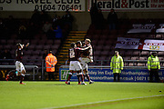 Northampton Town forward Marc Richards  celebrates during the Sky Bet League 2 match between Northampton Town and Yeovil Town at Sixfields Stadium, Northampton, England on 28 November 2015. Photo by Dennis Goodwin.