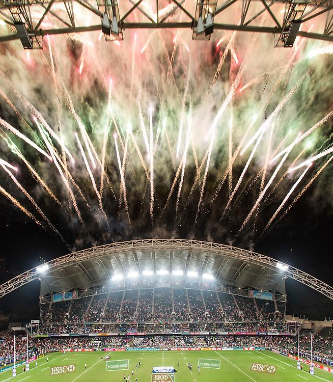 Action during the Hong Kong Sevens 2015, held at the Hong Kong Stadium. 29 March 2015, Hong Kong, China.