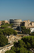 Rome Cityscape looking toward the Colosseum