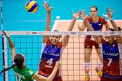 23-08-2017 NED: World Qualifications Czech Republic - Bulgaria, Rotterdam<br /> Aneta Kocmanova Havlickova #4 of Czech Republic, Iva Nachmilnerova #7 of Czech Republic