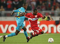 Fotball<br /> UEFA CHampions League<br /> 02.10.2007<br /> Foto: Witters/Digitalsport<br /> NORWAY ONLY<br /> <br /> v.l. Eric Abidal, Cacau VfB<br /> Champions League VfB Stuttgart - FC Barcelona