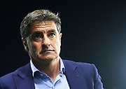 MALAGA, SPAIN - OCTOBER 29:  Head Coach of Malaga CF Michel Gonzalez looks on during the La Liga match between Malaga and Celta de Vigo at Estadio La Rosaleda on October 29, 2017 in Malaga, .  (Photo by Aitor Alcalde Colomer/Getty Images)