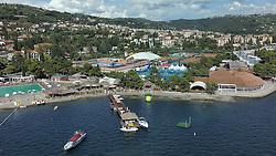 Airview of SRC Marina and beach in city Portoroz at Day 6 of ATP Challenger Tilia Slovenia Open 2014 on July 12, 2014 in Tennis stadium SRC Marina, Portoroz / Portorose, Slovenia. Photo by Vid Ponikvar / Sportida