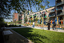 Hale Village is an urban village with sustainability and community at its heart, situated in the centre of Tottenham Hale, London. Its facilities, distinctive architecture, green spaces and environmental standing create a new generation of eco-district. There are over 1200 private and rental homes including a large amount of affordable housing. 2016