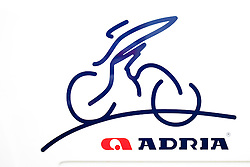 Logo of Adria Mobil day before start Tour de Slovenia 2012, on June 13, 2012, in Catez ob Savi, Slovenia. (Photo by Urban Urbanc / Sportida.com)