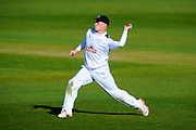 Hampshire's Tom Alsop during the Specsavers County Champ Div 1 match between Hampshire County Cricket Club and Warwickshire County Cricket Club at the Ageas Bowl, Southampton, United Kingdom on 12 April 2016. Photo by Graham Hunt.