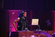 5 April 2014 - Washington, DC:  DJ Beverly Bond, Founder, Black Girls Rock! performs at the launch of ROCK! LIKE A GIRL Inside at the One Mic Hip Hop Festival held at the John F. Kennedy for the Performing Arts on April 5, 2014 in Washington, D.C.  (Terrence Jennings)