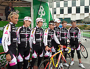 Team Pinarello CandiTV at the Tour of Ireland Stage 1. L-R, Malcolm Elliot, Mathew Kipling Kipling, Tom Murray, Russell Downing, Peter Williams, Andy Roche, Lee Davis