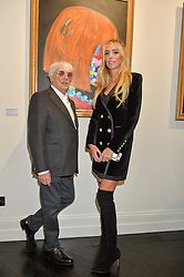 BERNIE ECCLESTONE and his daughter PETRA STUNT at a party to celebrate the launch of the Maddox Gallery at 9 Maddox Street, London on 3rd December 2015.