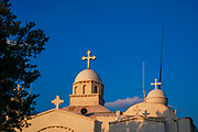 Exterior of the Agios Georgios (St. George) church at the top of the Lycavittos hill in Athens, Greece