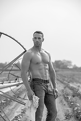 shirtless muscular farmer outdoors hot farmer in a dirty tee shirt on a farm shirtless muscular farmer outdoors