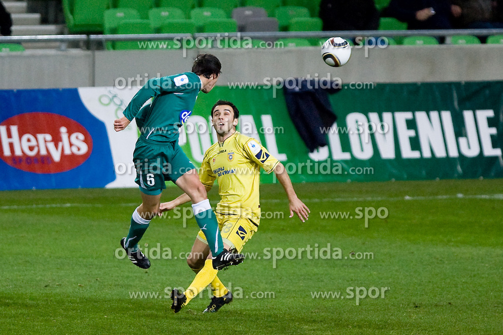 Alen Vuckic of NK Olimpija during football match between NK Olimpija and NK Domzale in second leg of quarter-final of Hervis Cup, on October 27, 2010 in Stadium Stozice, Ljubljana, Slovenia. Photo by Matic Klansek Velej / Sportida