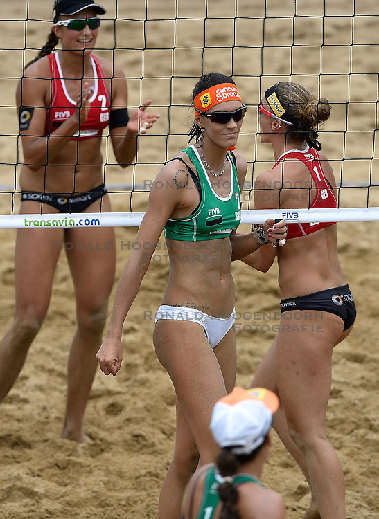 20-07-2014 NED: FIVB Grand Slam Beach Volleybal, Scheveningen<br /> Gold medal match / Taiana Lima (2) BRA