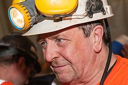Miners having a tea break in Boulby Potash mine