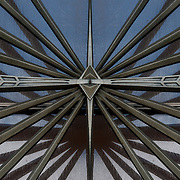 Art Deco Metalwork Abstract Mirror Horizontal