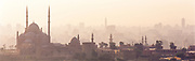 The Great Mosque and Hazy Skyline, Old City, Cairo, Egypt, 1996