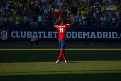 26.07.2015, Estadio Vicente Calderon, Madrid, ESP, Primera Division, Athletico Madrid, Spieler Neuzugang, im Bild Atletico Madrid's new Colombian striker Jackson Martinez // during his official presentation as a new player of the Spanish Primera Division Club Atletico de Madrid at the Estadio Vicente Calderon in Madrid, Spain on 2015/07/26. EXPA Pictures © 2015, PhotoCredit: EXPA/ Alterphotos/ Victor Blanco<br /> <br /> *****ATTENTION - OUT of ESP, SUI*****