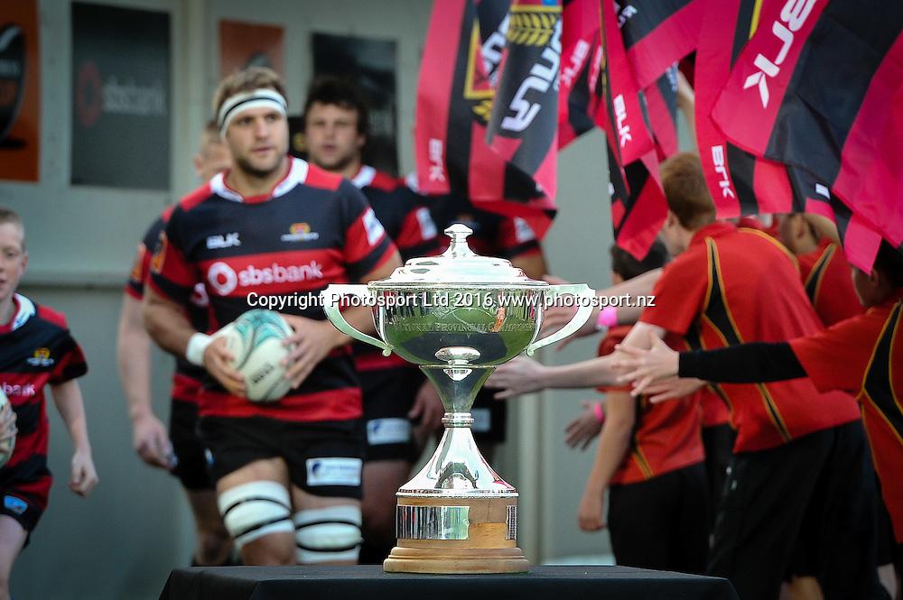 The NPC Cup. The Mitre 10 Cup Rugby Final Canterbury V Tasman, AMI Stadium, Christchurch, New Zealand. 29th October 2016. Copyright Photo: John Davidson / www.photosport.nz