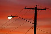 A street light in Portland, Oregon