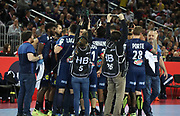 Ambiance france players during the EHF 2018 Men's European Championship, 1/2 final Handball match between France and Spain on January 26, 2018 at the Arena in Zagreb, Croatia - Photo Laurent Lairys / ProSportsImages / DPPI