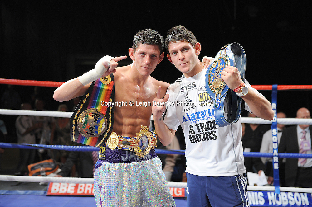 Jamie McDonnell defeats Stuart Hall for the British Commonwealth & European Bantamweight Titlle at the Doncaster Dome, Doncaster, Uk, 3rd September 2011. Frank Maloney Promotions. Photo credit: Leigh Dawney 2011