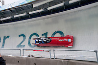 Teams from Italy compete in the four-man bobsleigh finals during the 2010 Olympic Winter Games in Whistler, BC Canada.